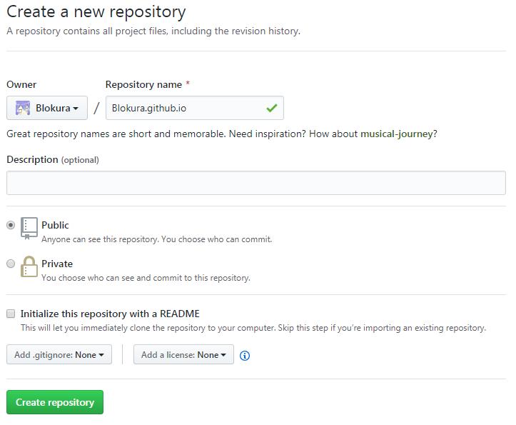 GitHub Pages创建